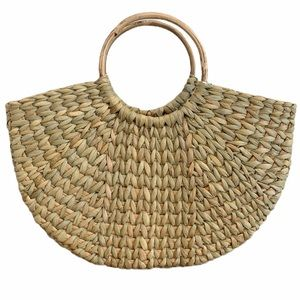 Zara Straw Bag With Rounded Handles